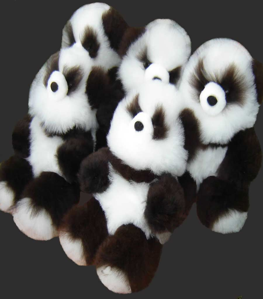 Nicest Baby Alpaca Fur Panda Teddy Bears excelent for a present